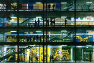 Gestaltung des Hörsaal-Kubus TU Dresden